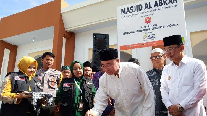 Lewat Bantuan PetroChina Indonesia, Warga Desa Potoya, Sigi Bisa Salat di Masjid Permanen Lagi