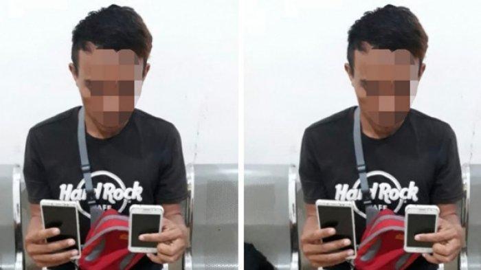 Pria Asal Kayumalue Ngapa Diduga Mencuri Handphone di Mamboro, Aksinya Terekam CCTV