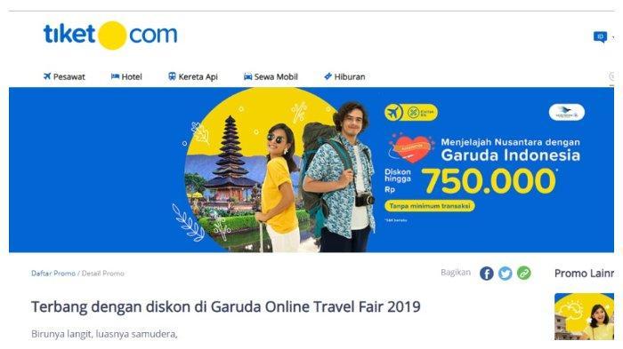 Terbang Domestik dengan Maskapai Garuda Indonesia, Diskon hingga Rp 750 Ribu Pesan Melalui Tiket.com