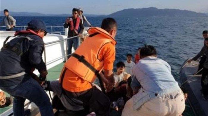 Alami Gangguan Teknis, 90 Pelayar di Perairan Kendari Dievakuasi
