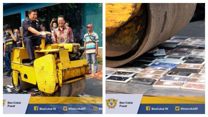 Bea Cukai Soekarno-Hatta Hancurkan Ponsel Ilegal Senilai Rp 3,5 Milyar Lebih