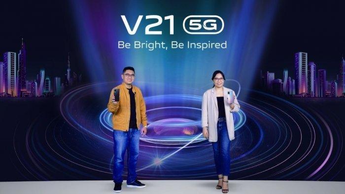 Prosesi peluncuran Vivo V21 5G, Senin (24/5/2021).