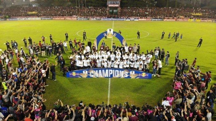 Ribuan Pundukung PSM Makassar Ikut Konvoi Rayakan Gelar Piala Indonesia 2018