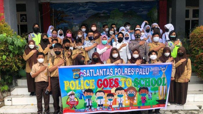 Jasa Raharja dan Polisi Sosialisasi Tertib Berlalulintas di SMPN 1 Palu