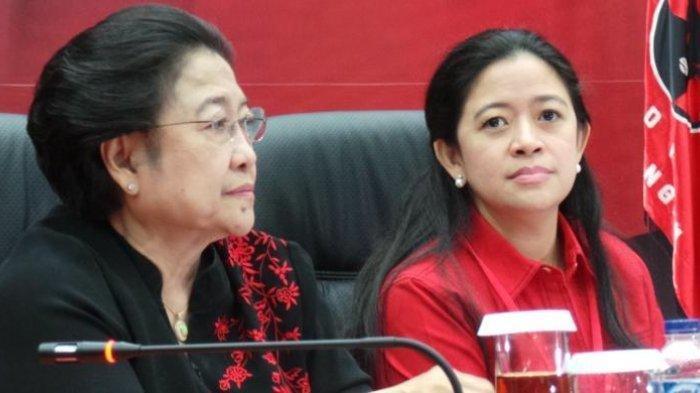 Ketua Umum PDI Perjuangan Megawati Soekarnoputri dan Ketua DPP Bidang Politik dan Keamanan PDI-Perjuangan nonaktif, Puan Maharani.