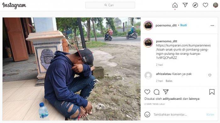 Ingin Pulang Rumah, Anak Punk Ini Rela Berjalan 30 KM tanpa Alas Kaki