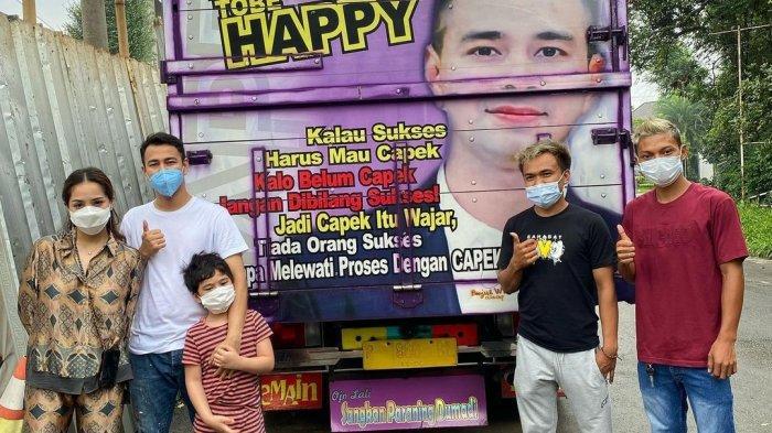 Viral Foto Truk Bergambar Raffi Ahmad Tiba ke Jakarta, Nagita Slavina Jadi Lukisan Berikutnya