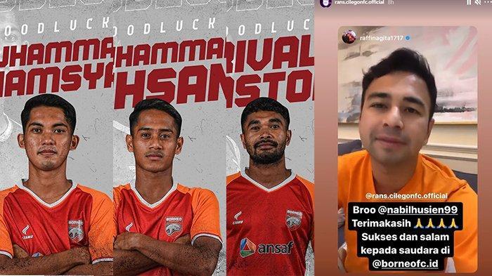 Jalin Kerjasama dengan Borneo FC, Raffi Ahmad Dapat Pinjaman 3 Pemain untuk RANS Cilegon FC