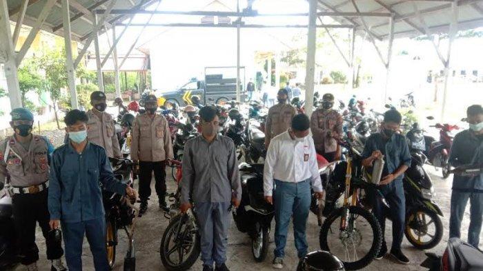 Siswa di Banggai Ramai-ramai Terjaring Razia Knalpot Racing