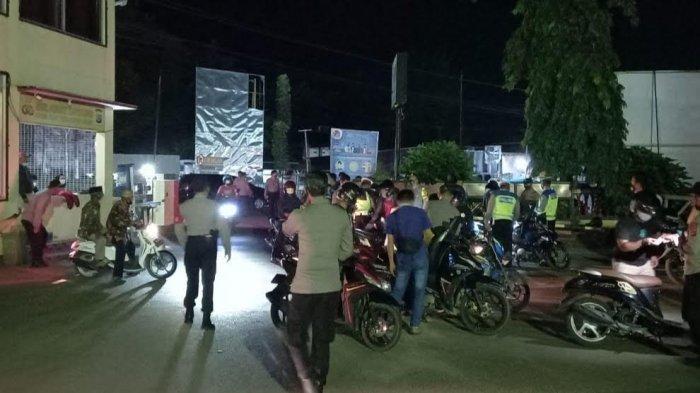 Polsek Luwuk Banggai Razia Knalpot Recing, Puluhan Motor Terjaring