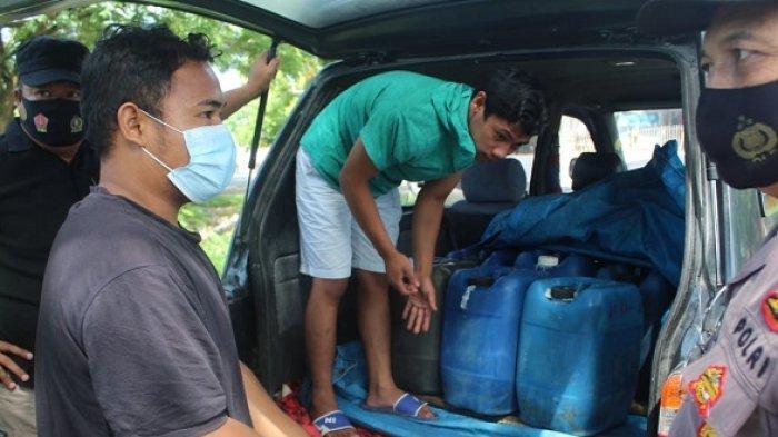 Razia Kendaraan di Trans Palu-Palolo, Polisi Amankan 30 Liter Miras Jenis Saguer