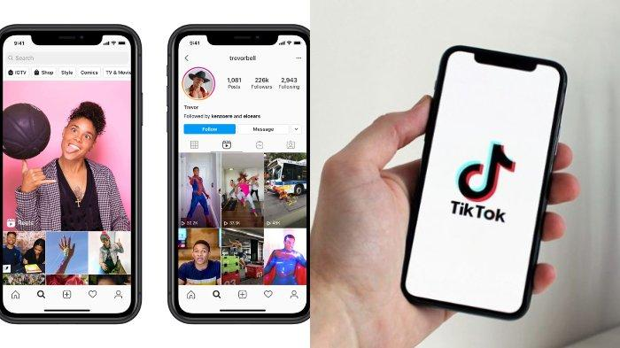 Kolase Foto : Perbandingan antara Instagram Reels dan TikTok dalam keunggulan serta kelebihannya untuk membuat konten media sosial.