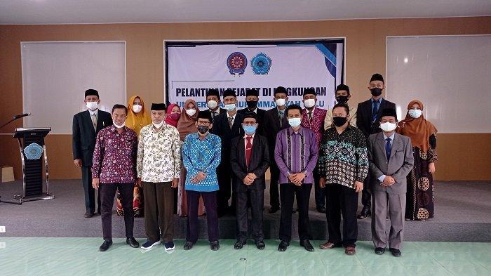 Rektor Rajindra Lantik 14 Pejabat di Lingkungan Universitas Muhammadiyah Palu