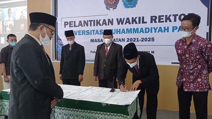 Unismuh Palu Lantik Tiga Wakil Rektor Baru, Berikut Nama-namanya