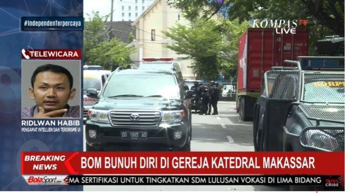 Terjadi Ledakan Bom di Makassar, Pengamat Intelejen dan Terorisme UI: Ini Bukan Bom Biasa