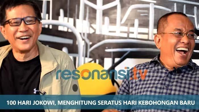 Rocky Gerung Terbahak saat Dengar Sindiran Said Didu untuk Maruf Amin di 100 Hari Kerja Jokowi