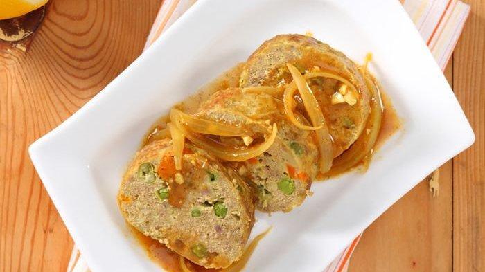 Resep membuat rolade daging kari.