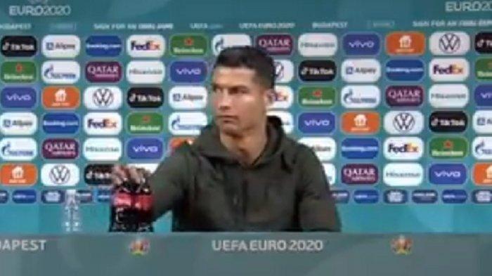 Heboh Aksi Ronaldo Singkirkan Botol saat Konferensi Pers, Perusahaan Minuman Soda Rugi Rp 57 Triliun
