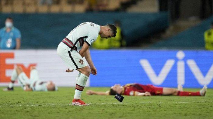Murka Dipermalukan Belgia, Ronaldo Banting dan Tendang Ban Kapten