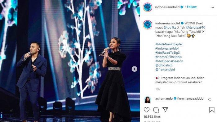 Ciptakan Kolaborasi Apik di Indonesian Idol, Judika dan Rossa Hanya Butuh 15 Menit untuk Latihan