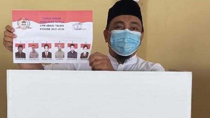 Layaknya Pemilu, Pemilihan Ketua LPM Abadi Talise Palu Dicoblos di Bilik Suara