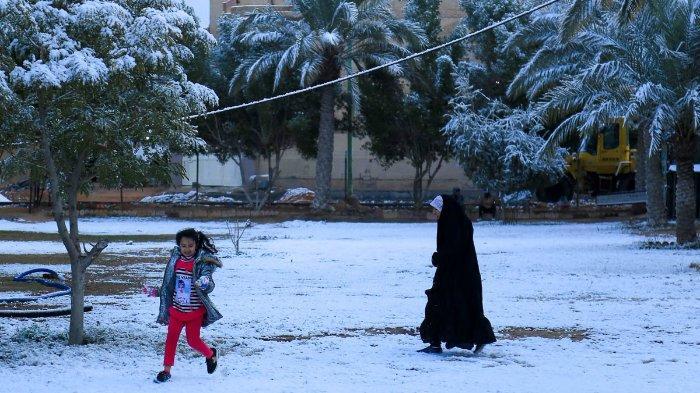 Peristiwa Langka, Salju Selimuti Kota Baghdad Iraq untuk Kali Pertama dalam Sepuluh Tahun Terakhir