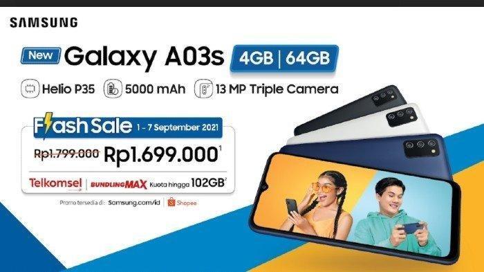 Spesifikasi HP Samsung Galaxy A03S, Harga Rp 1 Jutaan Sudah Dapat Ponsel RAM 4 GB dan Kamera 13MP