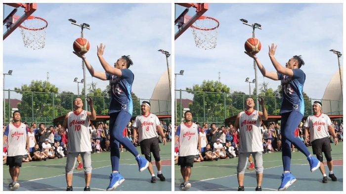FOTO ILUSTRASI: Sandiaga Uno melakukan olahraga lari pagi dan bermain basket bersama Komandan Satuan Tugas Bersama (Kogasma) Partai Demokrat, Agus Harimurti Yudhoyono (AHY), Minggu (17/3/2019).