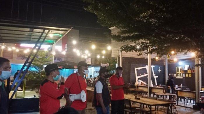 Satgas K5 Lolu Selatan Palu Razia Masker di Cafe DAM