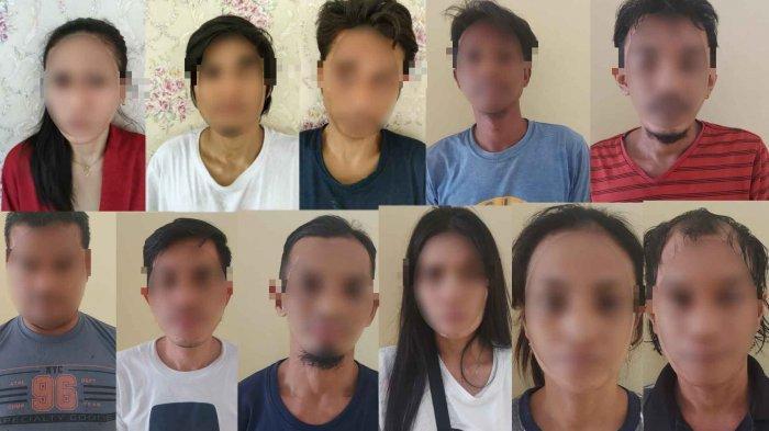 Polres Palu Gerebek Kampung Narkoba dan Ringkus 11 Tersangka, 3 Perempuan dan 1 Oknum Polisi