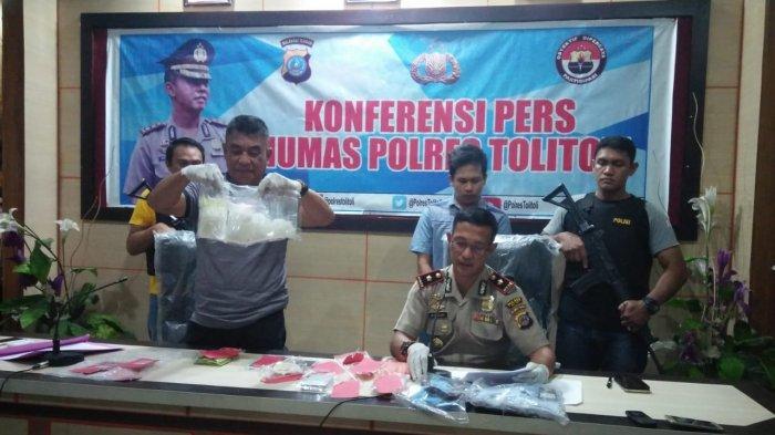 Polres Tolitoli Ungkap Peredaran Narkoba, Oknum Petugas Lapas Kini Dalam Pengejaran