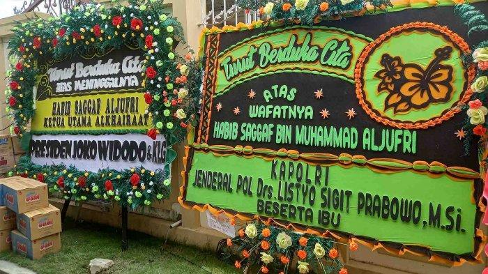 136 Karangan Bunga Hiasi Lorong Menuju Rumah Duka Habib Saggaf Bin Muhammad Aljufri