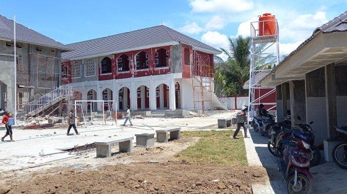 Tahap pembangunan SDN Poboya Palu, Sulawesi Tengah.