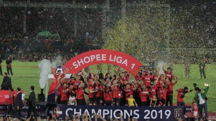 Klasemen Akhir Liga 1 2019: Bali United Juara, Persib Bandung Gagal Finish di 5 Besar