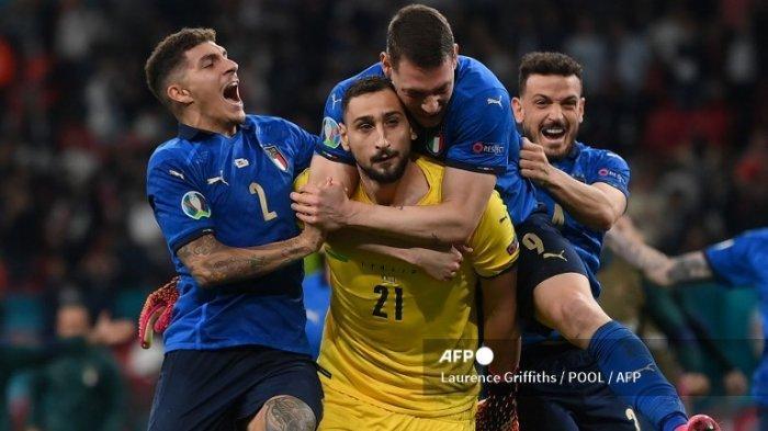 Hasil Final Euro 2020 - Italia Jadi Jawara Lewat Drama Adu Penalti, Donnaruma Jadi Pahlawan