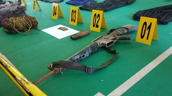 Penampakan Senjata Laras Panjang Panglima Teroris Poso Ali Kalora yang Tewas Tertembak di Torue Parimo