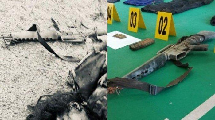 Penampakan Senjata Laras Panjang Panglima Teroris Poso Ali Kalora yang Tewas Tertembak di Parimo