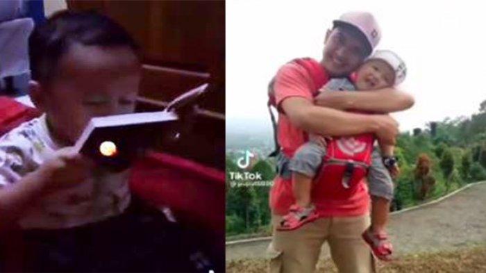Bikin Sedih, Anak Kecil Cium Foto Ayahnya di Buku Yasin: Yah Gendong, Ayah Ganteng, Dah Ayah