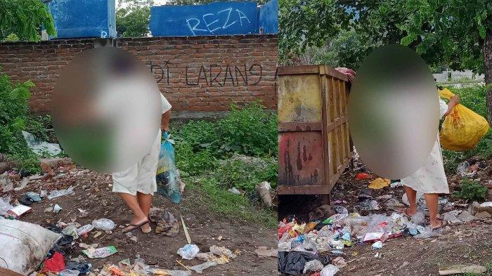 Buang Sampah di Luar Waktu Ketentuan, Wanita Ini Disanksi Bersihkan TPS