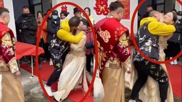 Pengantin Wanita Dicium Paksa Tamu di Depan Umum, Suami Lihat Tapi Hanya Senyum, Netizen Marah