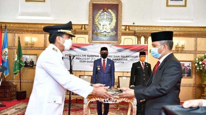 Gubernur Sulawesi Selatan Lantik Rudi Djamaludin sebagai Pj Wali Kota Makassar