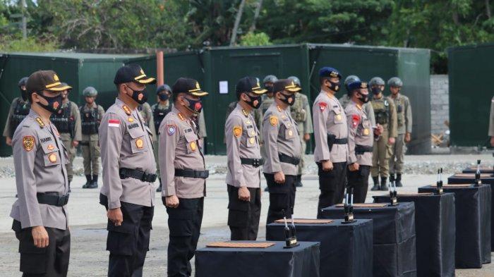 Kapolda Sulteng Berkantor di Poso, Sertijab 4 Pejabat Polda Digelar di Tokorondo