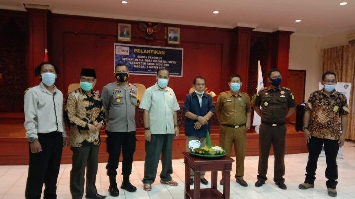 Dewan Pengurus Serikat Media Siber Indonesia (SMSI) Parimo Periode 2021-2023 Resmi Dilantik