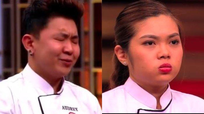 Spoiler dan link live streaming MasterChef Indonesia Top 3 hari ini; Nindy tampak panik sampai membuat masakannya tumpah, Audrey spontan bereaksi.