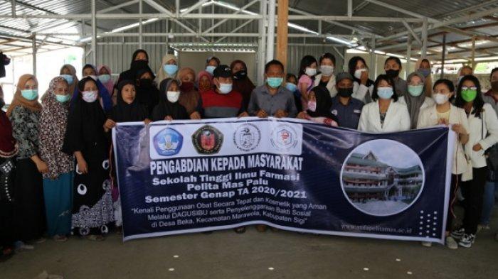 PKM STIFA Pelita Mas Palu Gelar Penyuluhan Kesehatan dan Bagi Sembako di Beka Sigi