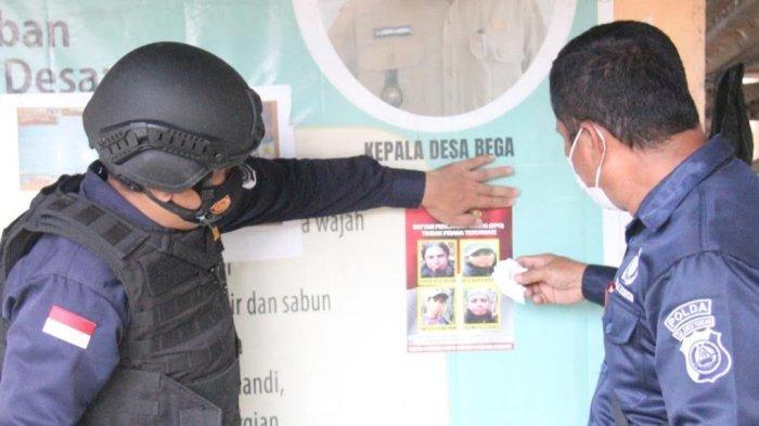 Satgas Madago Raya Sebar Stiker Foto 4 Teroris Tersisa di Poso-Parimo