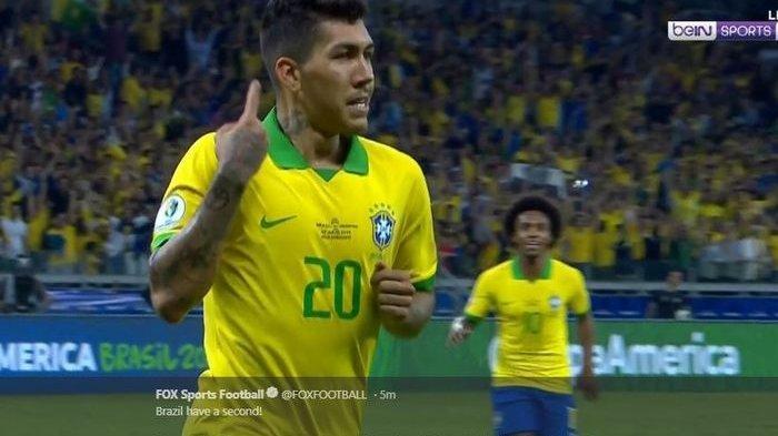 Hasil Copa America 2019, Kalahkan Argentina 2 Gol Tanpa Balas,Brasil Melaju ke Final Tanpa Kebobolan