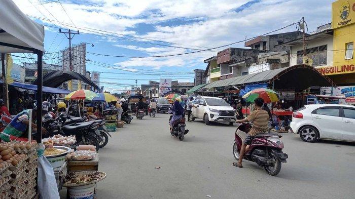 H-1 Jelang Lebaran Iduladha, Pasar Inpres Jalan Kacang Panjang Palu Tidak Alami Kemacetan Parah