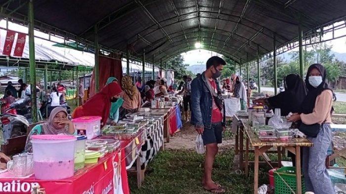 Pasar Ramadan di Kawasan Huntara Petobo, Penyintas: Puasa Tahun Ini Lebih Meriah