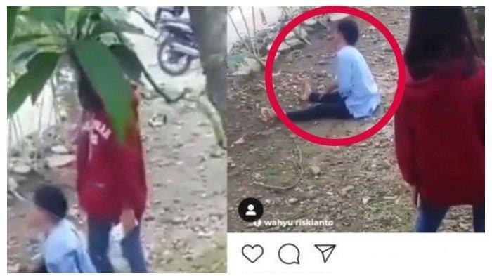 Viral Remaja Celakai Ibunya Hingga Tersungkur ke Tanah, Alasan Dorong sang Ibu Bikin Warganet Geram